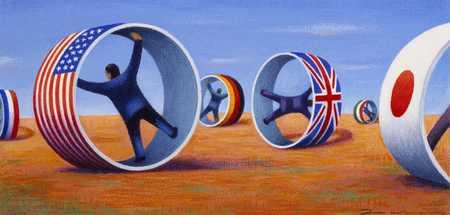 Men In Flag Circles