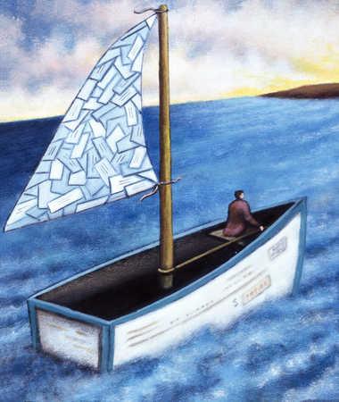 Sailboat Heading To Sun