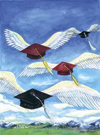 Graduation Caps With Wings