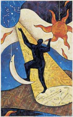 Figure Celebrates Astrology