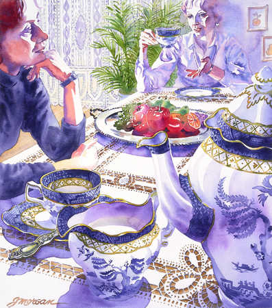 Two Women At Tea-Time