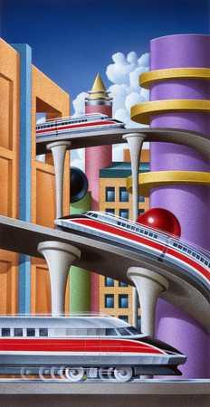 Bullet Train In Future City
