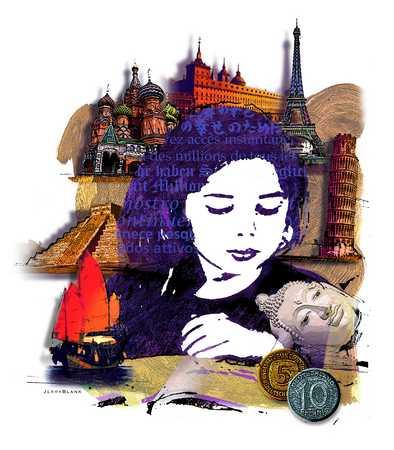 Woman, travel, Asia, Europe
