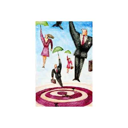 Umbrella Businesspeople And Target