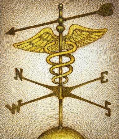 Medical Symbol Weathervane