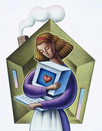 Woman Loving Personal Computer