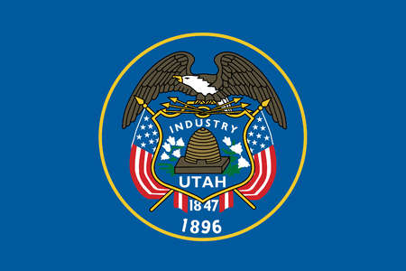utah state flag coloring page - stock illustration utah state flag