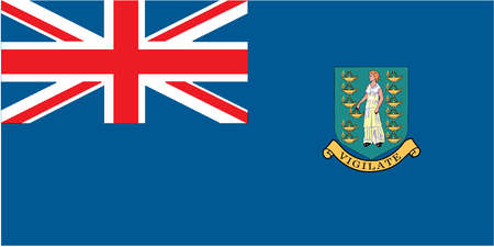 Flag of the British Virgin Islands, a British territory in the Caribbean sea.