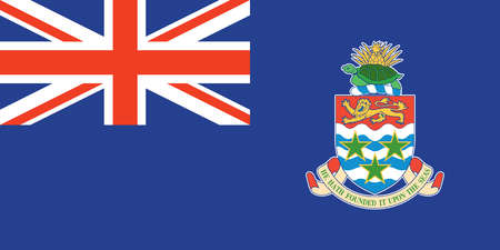 Flag of the Cayman Islands, a British territory in the Caribbean sea.