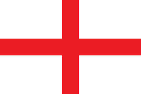 Flag of England, the predominant constituent unit of the United Kingdom, occupying more than half the island of Great Britain.