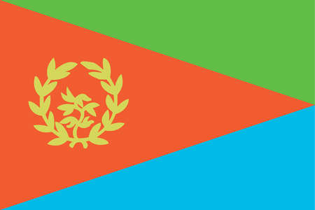 Historical flag of Eritrea, a country on the horn of Africa, from 1993 to 1995.