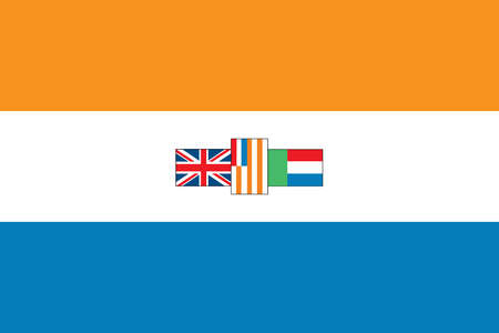 Historical flag of South Africa, the southernmost country in Africa, from 1928 to 1994.