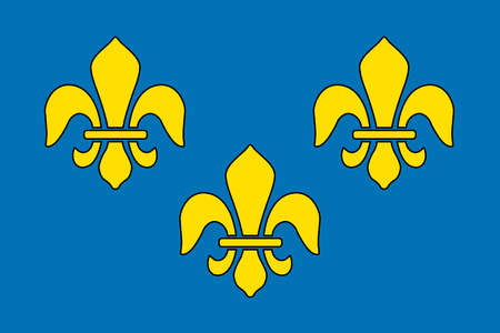 Historical flag of France, a country in Europe, from about 1370 to 1600.