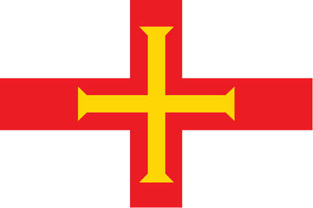 Flag of Guernsey, a crown dependency of the United Kingdom.