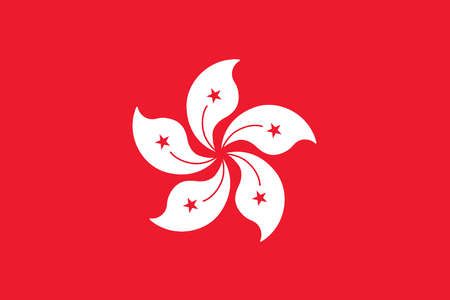 Flag of Hong Kong, a special administrative region of China.