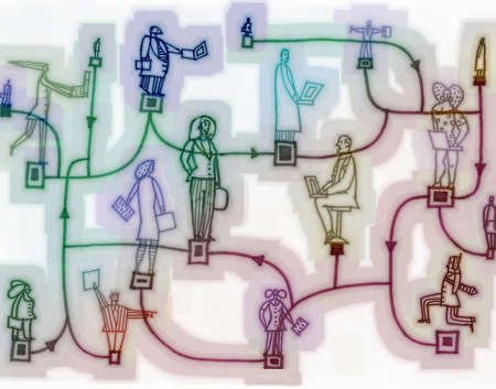 Linked network of business people