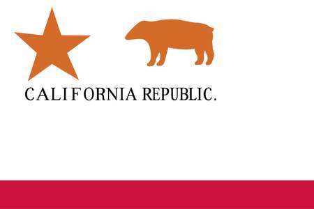 Historical flag of the United States of America. When American settlers in California organized the California Republic June 14, 1846, they adopted this flag.