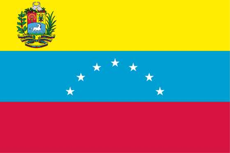 stock illustration - venezuela's flag from 1864 until 2006, when an
