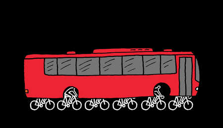 Bicycles powering bus