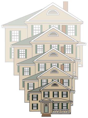 Progression of diminishing house