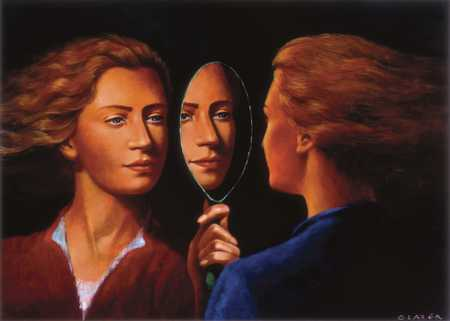 Two Women And Mirror