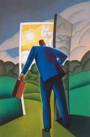 Executive Opening Door
