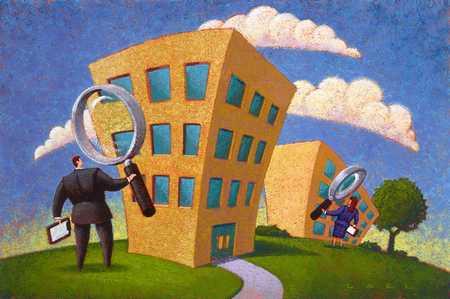 Examination of buildings