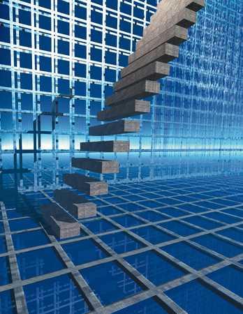 Stairway in grid