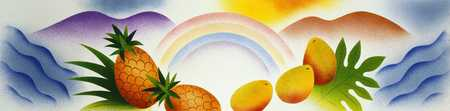 Fruits Under A Rainbow