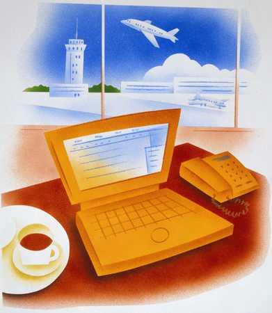 Computer At An Airport
