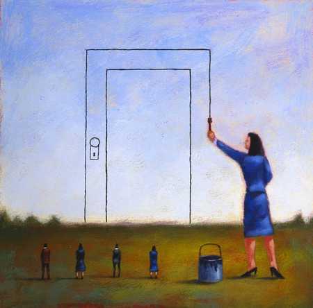 Painting Door On Horizon
