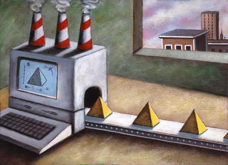 Pyramid Producing Computer