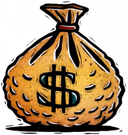 stock illustration bag of money