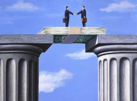 Dollar Bridge Over Columns