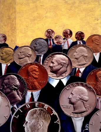 Coin-headed people