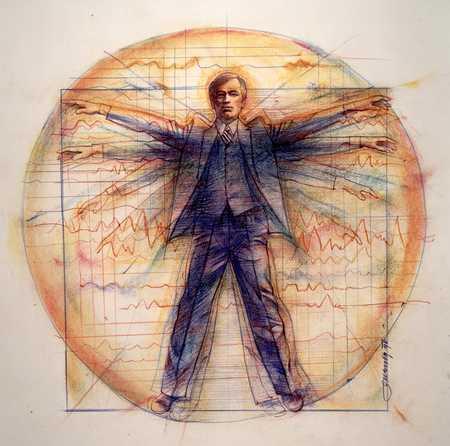 Leonardo Da Vinci Man In Suit