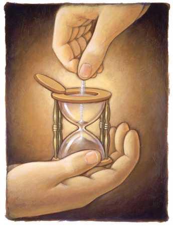 Adding Sand To Hourglass