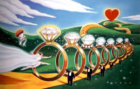 Bride Leaping Through Wedding Rings