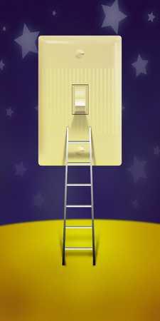 Ladder to light switch