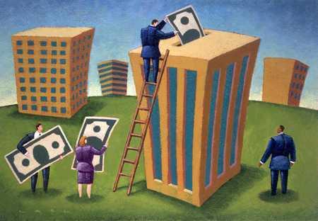 Executives Putting Bills Into Building Bank