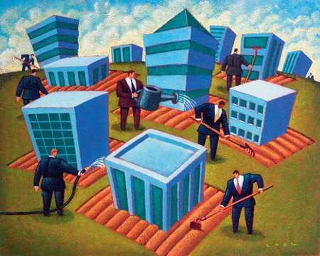 Executives Cultivating Building Plots