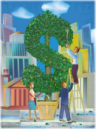 Dollar sign tree