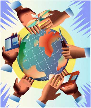World with hands
