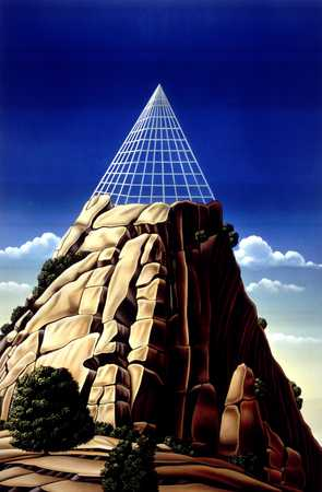 Mountain With Pyramid Grid On Top