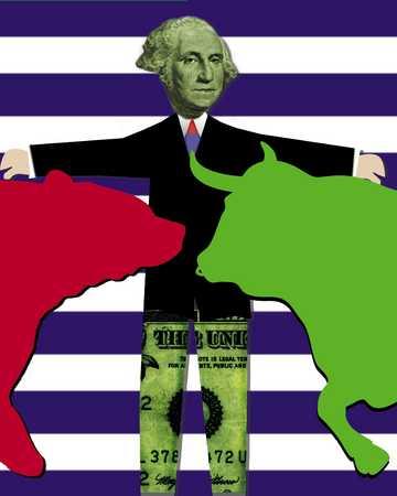 George Washington between bull and bear