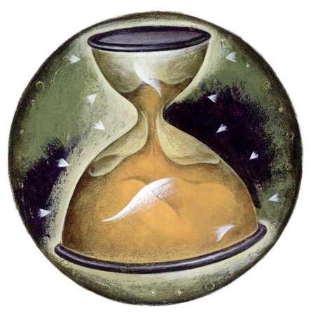 Uneven hourglass