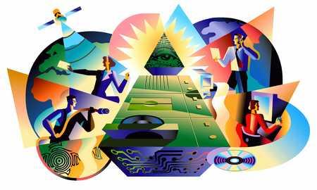 Computer Money-Pyramid