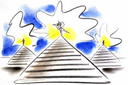 People On Pyramids