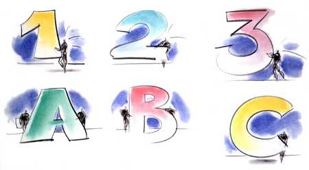 1,2,3 - A,B,C