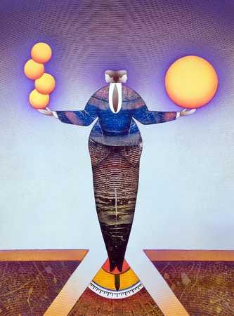 Scale-Man Balancing Spheres